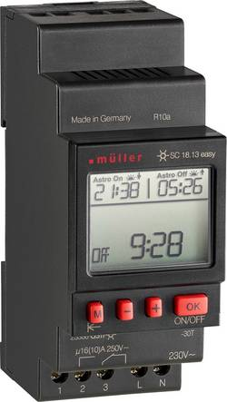 Müller SC 18.13 easy NFC Programmateur horaire pour rail 230 V