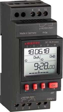 Programmateur horaire pour rail Müller SC 18.20 easy 230 V 16 A/250 V 1 pc(s)