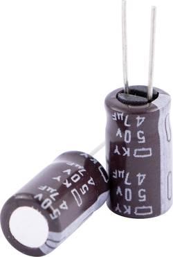 Condensateur électrolytique sortie radiale 47 µF 25 V Europe ChemiCon EKY-250ELL470ME11D (Ø x h) 5 mm x 11 mm 20 % Pas: