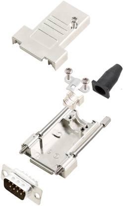 Kit SUB-D mâle 9 pôles encitech DTSL09-T-JSRG+DMP-K 6355-0040-21 180 ° fût à souder 1 set
