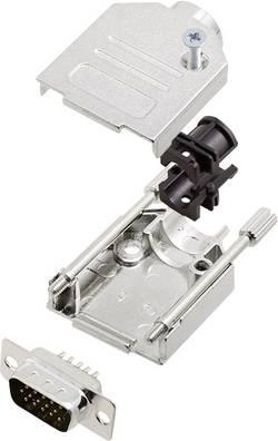 Kit SUB-D mâle 15 pôles encitech DTZK09-HDP15-K 6355-0012-01 180 ° fût à souder 1 set