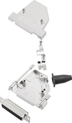 Kit SUB-D femelle 25 pôles encitech DTSL25-S-JSRG+DMS-K 6355-0042-33 45 ° fût à souder 1 set