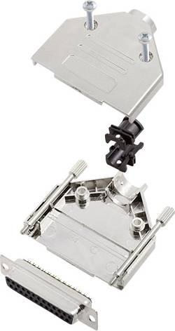 Kit SUB-D femelle 25 pôles encitech DTPK-M-25-DMS-K 6355-0031-13 180 ° fût à souder 1 set