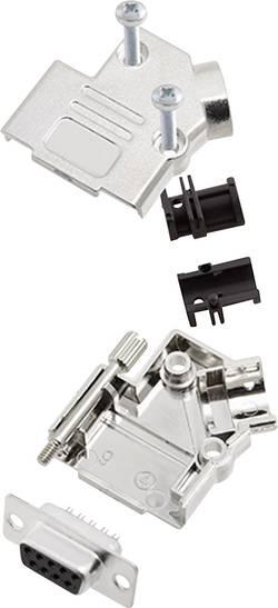 Kit SUB-D femelle 9 pôles encitech D45PK-M-09-DBS-K 6355-0009-11 45 ° fût à souder 1 set