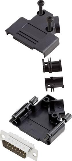 Kit SUB-D mâle 15 pôles encitech D45PK-P-15-DBP-K 6355-0034-02 45 ° fût à souder 1 set
