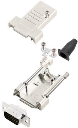 Kit SUB-D mâle 15 pôles encitech DTSL09-T-JSRG+HDP15-K 6355-0041-01 180 ° fût à souder 1 set