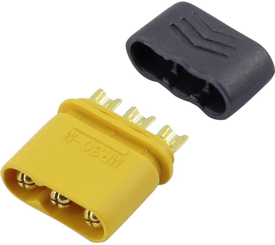 Fiche adaptateur de plaque RC Connecteur mr30 Fiche de connecteur MR30 Connecteurs RC pour moteur brushless multirotor ESC prot/ég/é contre linversion de polarit/é /à courant /élev/é 5 Paires
