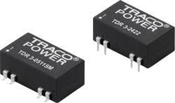 Convertisseur CC/CC pour circuits imprimés TracoPower TDR 3-2422SM 24 V/DC 12 V/DC, -12 V/DC 125 mA 3 W Nbr. de sorties: