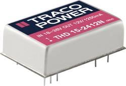 Convertisseur CC/CC pour circuits imprimés TracoPower THD 15-1212N 12 V/DC 12 V/DC 1250 mA 15 W Nbr. de sorties: 1 x 1 p