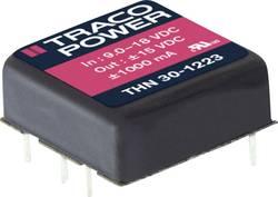 Convertisseur CC/CC pour circuits imprimés TracoPower THN 30-2413 24 V/DC 15 V/DC 2500 mA 30 W Nbr. de sorties: 1 x 1 pc