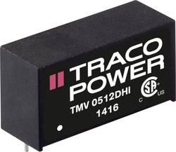 Convertisseur CC/CC pour circuits imprimés TracoPower TMV 1212SHI 12 V/DC 12 V/DC 80 mA 1 W Nbr. de sorties: 1 x 1 pc(s)