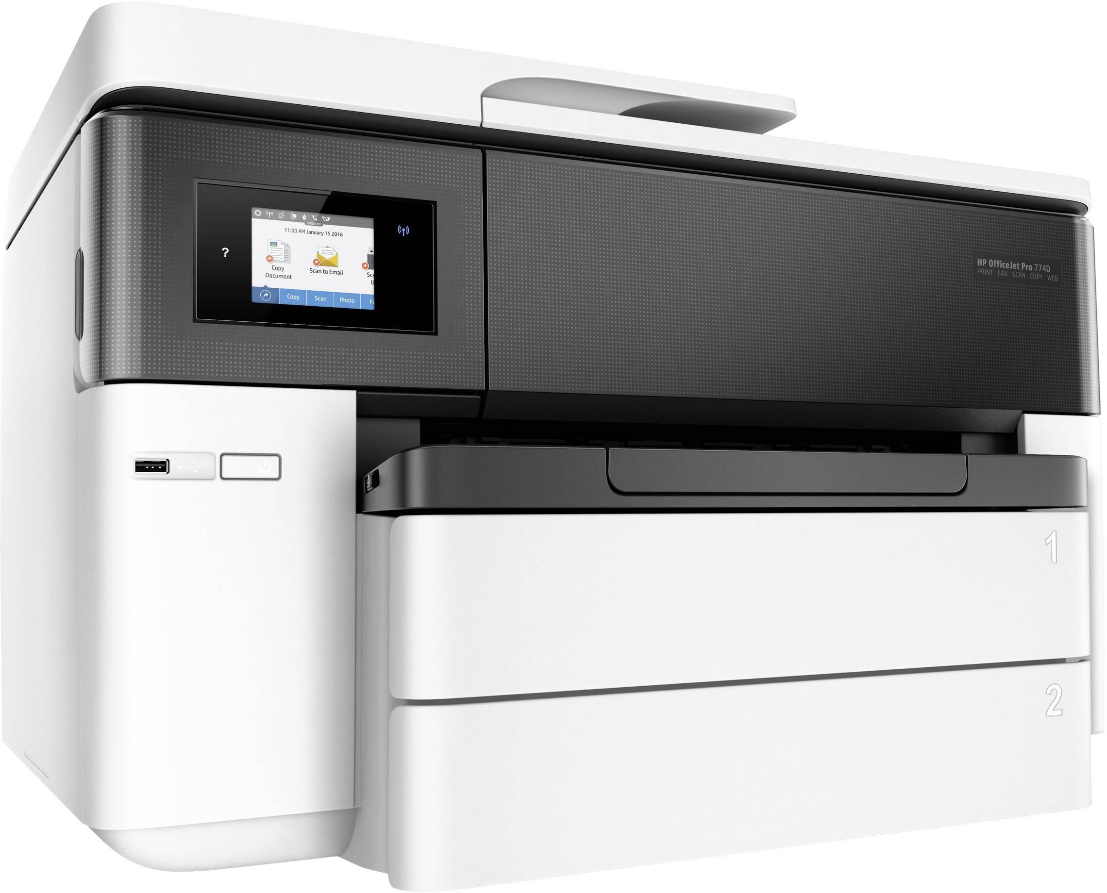 HP OfficeJet Pro 7740 Wide Format All in One Imprimante multifonction à jet d'encre couleur A3 imprimante, scanner, phot