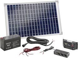Kit solaire Esotec Poly 120005 20 Wp avec accu, avec câble de raccordement, avec régulateur de charge