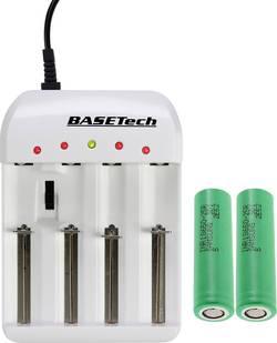 Chargeur pour piles rondes NiCd, NiMH, NiZn, Li-ion, LiFePO avec accus Basetech BTL-4.1