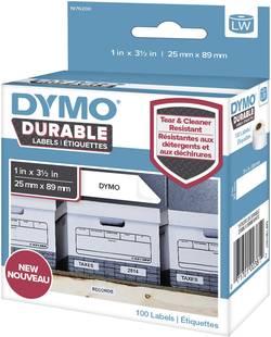 DYMO Rouleau d'étiquettes 89 x 25 mm film polypropylène blanc 100 pc(s) permanente 1976200 Etiquettes universelles, Etiq