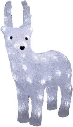 Figurine en acrylique renne Konstsmide 6139-203 Ampoule LED blanc froid avec minuterie blanc