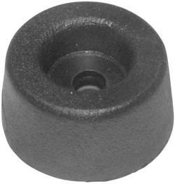 Pied d'appareil GF2 vissable noir (Ø x h) 17.5 mm x 9 mm 1 pc(s)