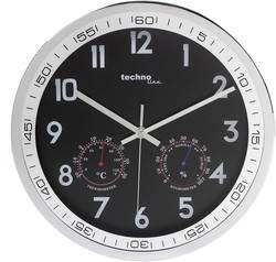 Horloge murale à quartz Techno Line WT 7981 chrome 300 mm x 5 cm