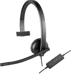 Micro-casque PC circum-aural mono, filaire Logitech H570e noir