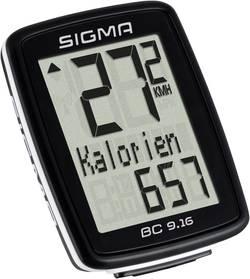 Compteur de vélo Sigma BC 9.16 transmission par câble avec capteur de roue