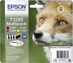 Catouches d'encre Epson pack combiné T1285 noir ; cyan ; magenta ; jaune C13T12854012