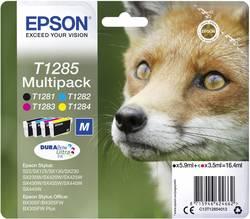 Pack de cartouches Epson T1285 noir, cyan, magenta, jaune C13T12854012