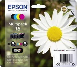 Pack de cartouches Epson T1806, 18 noir, cyan, magenta, jaune C13T18064012