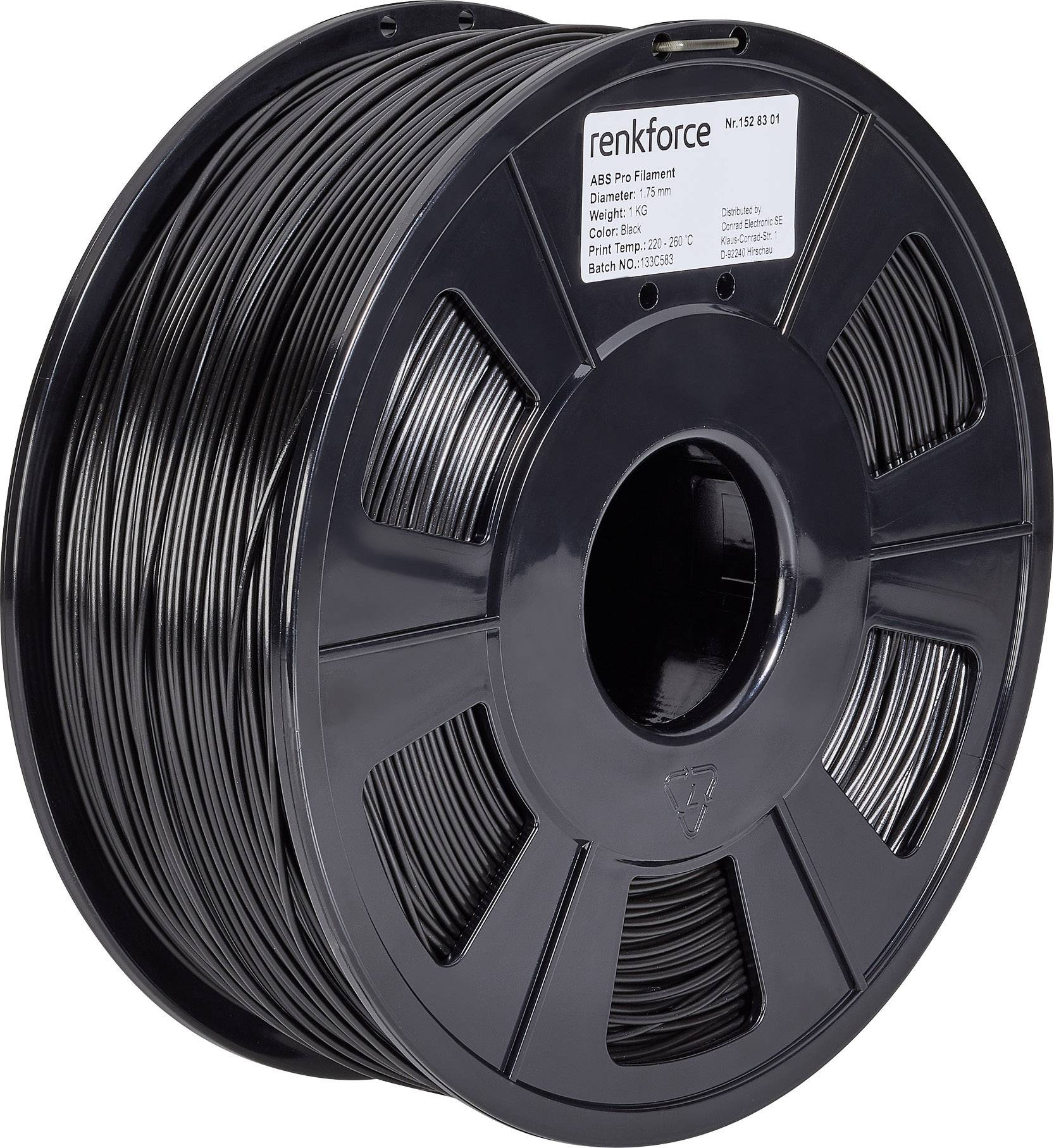 Verbatim 1.75mm Noir Abs 3d Imprimante Filament 3d Printers & Supplies 1kg