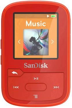 SanDisk Lecteur MP3 16 Go rouge clip de fixation,