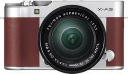 Appareil photo hybride Fujifilm X-A3 Kit avec kit XC 16-50 mm 24.2 Mill. pixel marron vidéo Full HD, WiFi, sabot pour f