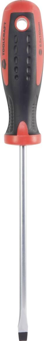 pour l'atelier Tournevis plat TOOLCRAFT Largeur de la lame: 6.5 mm Longueur de la lame: 153 mm DIN ISO 8764