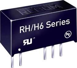 Convertisseur CC/CC pour circuits imprimés RECOM RH-123.3D/H6 +3.3 V, -3.3 V 152 mA 1 W Nbr. de sorties: 2 x 1 pc(s)