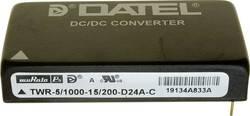 Convertisseur CC/CC pour circuits imprimés Murata Power Solutions TWR-5/1000-15/200-D24A-C +15 V, +5 V, -15 V 1000 mA 1