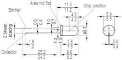 Phototransistor OSRAM SFH 300 FA-3/4 5 mm 1100 nm 25 ° 1 pc(s)