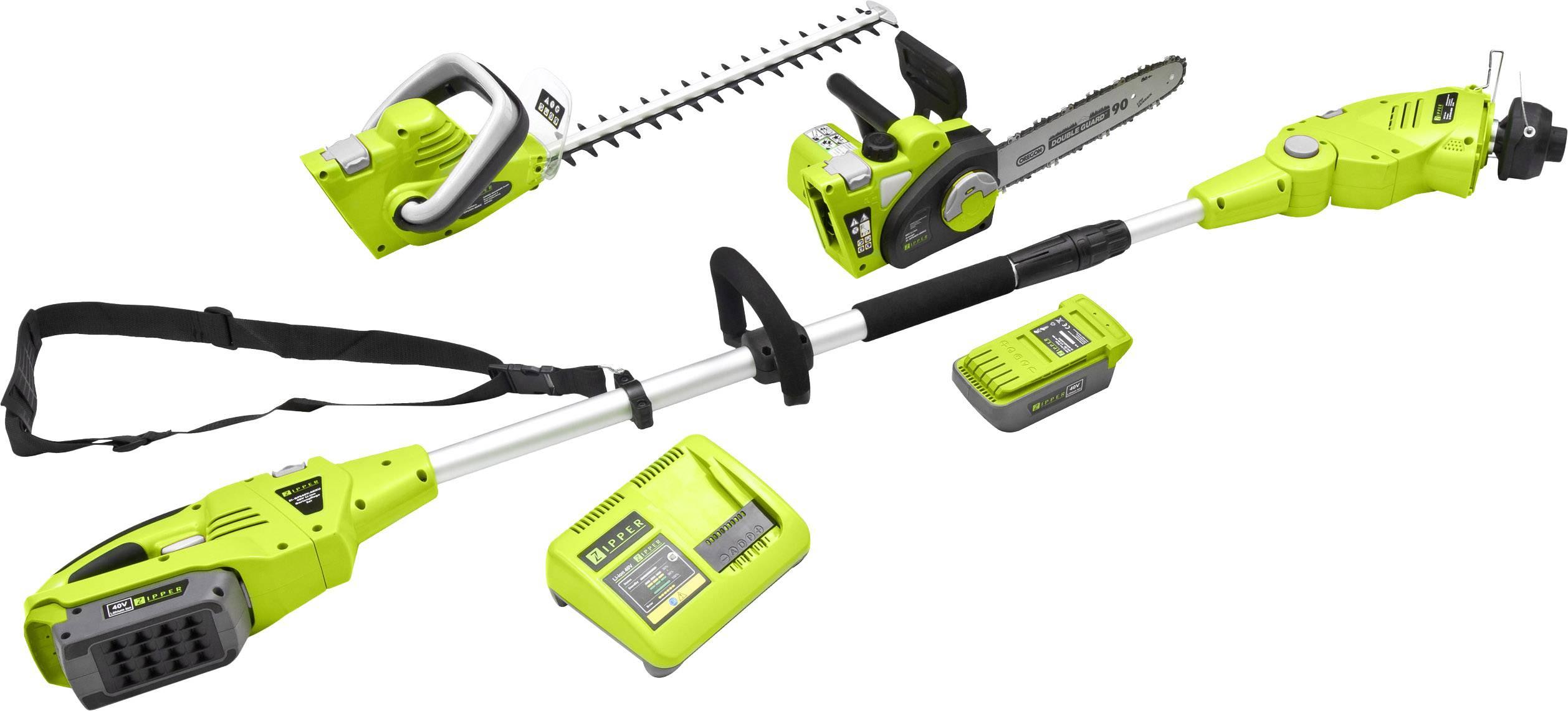 Les Outils De Jardinage Avec Photos zipper zi-gps40v-akku sans fil set d'outils de jardin avec batterie, avec  harnais 40 v li-ion