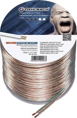 Câble haut-parleur Oehlbach 205 2 x 0.75 mm² transparent 30 m
