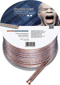 Câble haut-parleur Oehlbach 302 2 x 4.00 mm² transparent 20 m