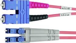 Câble de raccordement fibre optique Telegärtner L00895C0021 [1x SC mâle - 1x LC mâle] 50/125µ Multimode OM3 10 m