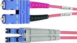 Câble de raccordement fibre optique Telegärtner L00890C0038 [1x SC mâle - 1x LC mâle] 50/125 µ Multimode OM2 1 m