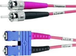 Câble de raccordement fibre optique Telegärtner L00892A0072 [1x ST mâle - 1x SC mâle] 50/125 µ Multimode OM4 3 m