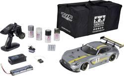 Voiture de tourisme électrique Tamiya Mercedes-AMG GT3 4 roues motrices brushed 2,4 GHz pack économique 1:10