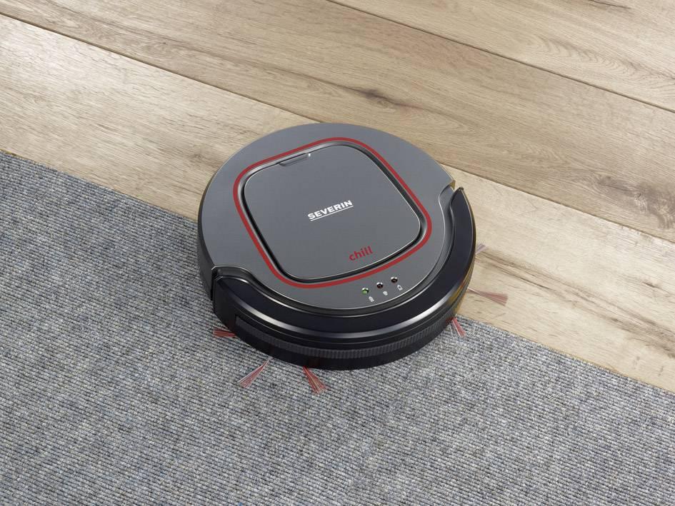 Aspirateur robot Severin Chill gris, rouge, noir |