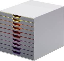 Durable Module de classement à tiroirs 761027 gris DIN A4, DIN C4, folio, lettre ATT.INT.NUMBER-DRAWERS: 10