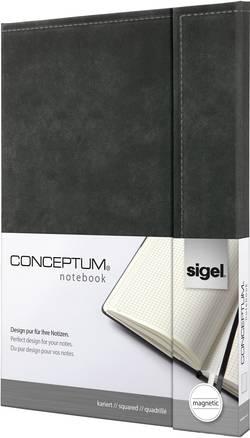Sigel Cahier CONCEPTUM® CO608 quadrillé gris foncé ATT.INT.NUMBER_SHEETS: 97 DIN A4