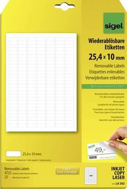 Etiquettes universelles Sigel LA202 25.4 x 10 mm papier blanc 4725 pc(s) décollable