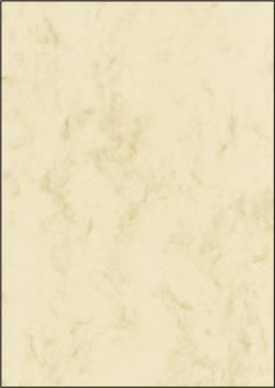 Sigel papier marbré 90g A4 beige 100x