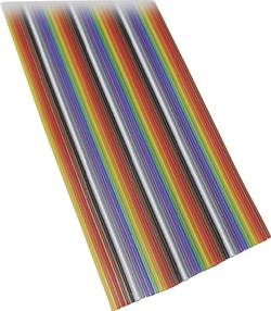 Câble nappe BKL Electronic 10120163/10 Pas: 1.27 mm 37 x 0.08 mm² multicolore 10 m