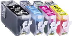 Pack de cartouches compatible Basetech BTC81 noir, cyan, magenta, jaune - remplace Canon PGI-525, CLI-526