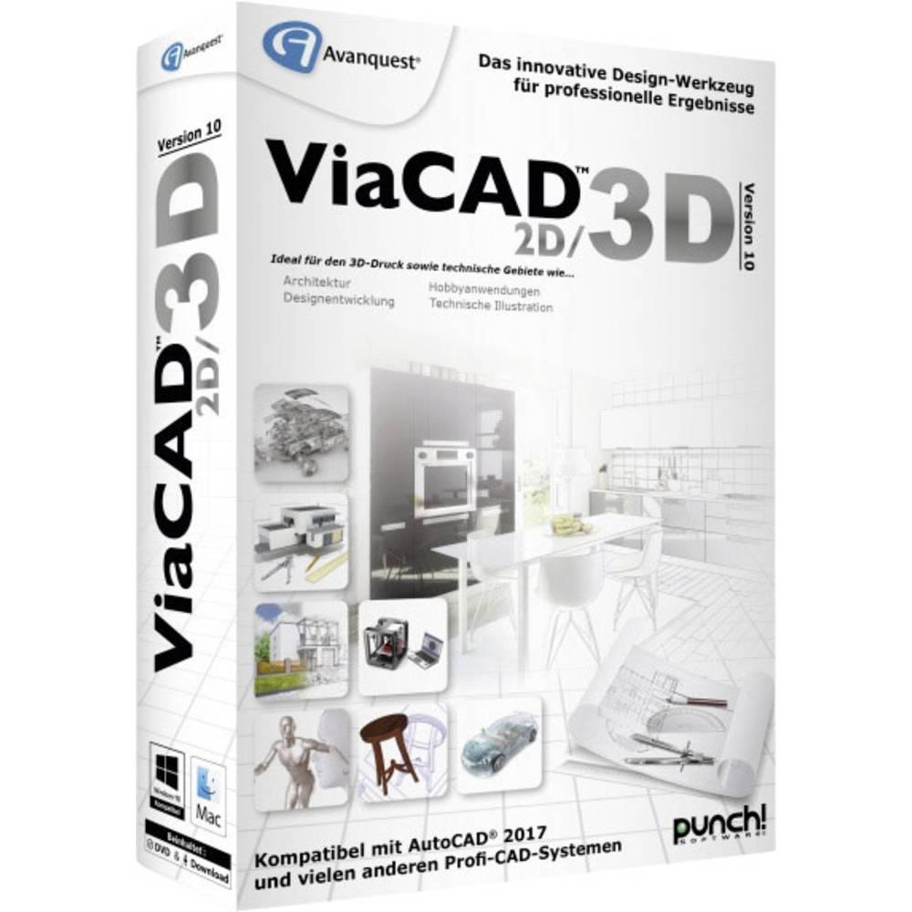 Avanquest ViaCAD 2D/3D 10 Version Complète, 1 Licence