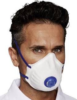 Masque anti poussières fines avec valve FFP2 D EKASTU Sekur Mandil 414 214 12 pc(s)
